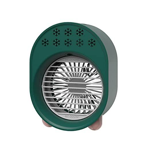 SDFW Mini Aire Acondicionado, Ventilador Enfriador de Aire, luz USB, Aire Acondicionado portátil, Ventilador de refrigeración de refrigeración por Aire para Espacio Personal