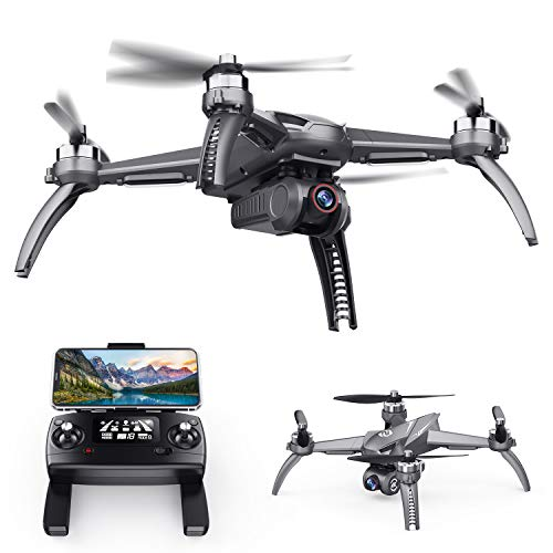 SANROCK B5W GPS Drones with 4K UHD Camera for Adults Kids Beginners, Quadcopter with Brushless Motor, 5GHz FPV Transmission, Auto Return Home, Long Contronl Range, 23 Mins Flight Time