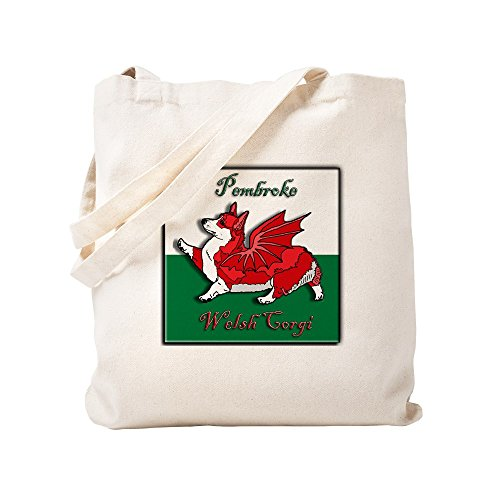 CafePress–Rot (Flagge), corgon–natürliche Canvas Tote Bag, Tuch, mit Tasche, canvas, khaki, S