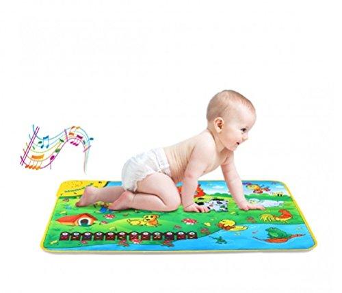 Fair Tappeto Musicale Gioco Educativo e Interattivo Baby Farm Suoni e Musica 50x50 cm