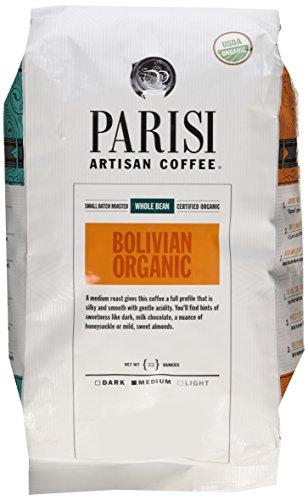 Parisi Artisian Coffee 32 Oz., Bolivian Organic, Whole Bean