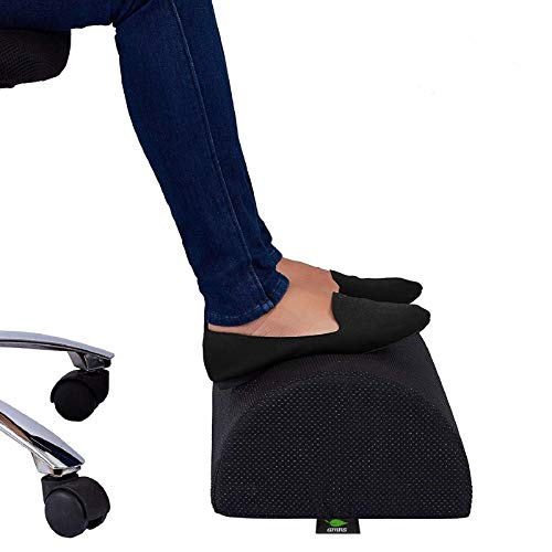 AMNS Office Foot Rest Under Desk - Ergonomic, Orthopedic High Density Foam Pillow Stool for Home, Work, Table, Gaming - Helps Relieve Knee and Back Pain, Sore Feet
