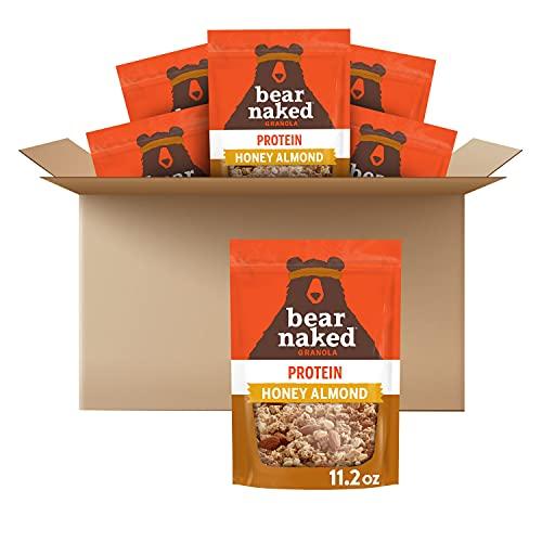 Bear Naked Granola NonGMO Kosher Vegetarian Friendly 11.2 Oz Pack , Honey Almond, 67.2 Ounce, (Pack of 6)