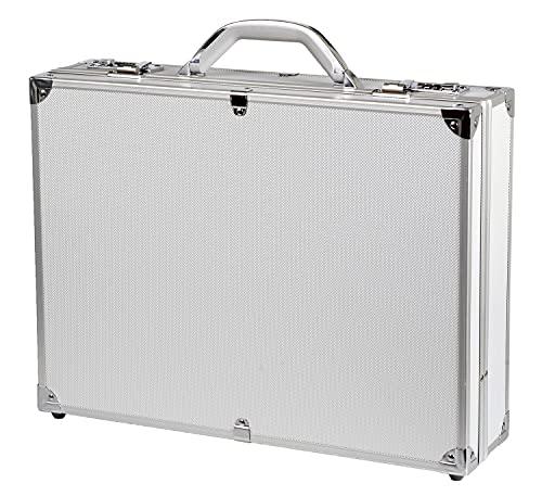 Alumaxx Attachékoffer OCTAN, Aktenkoffer aus Aluminium, Geschäftskoffer silber, Alu Business Koffer Borsa pilota, 46 cm, 15 liters, Argento (Silber)