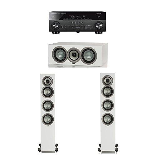 Best Buy! ELAC Uni-Fi Slim White 3.0 System with 2 ELAC FS-U5 Floorstanding Speakers, 1 ELAC CC-U5 C...