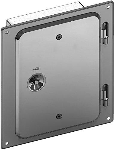 Kamintüre/Schornsteintüre 210 x 140 mm mit Schiebestutzen 60 mm aus Edelstahl für einwandige Schornsteine