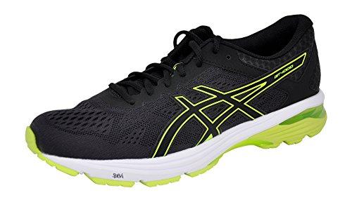 ASICS Zapatillas de correr GEL Venture 5 para hombre, negro (Negro/Amarillo/Negro), 44 EU