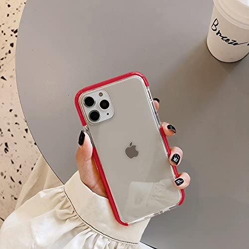 HHF teléfono celular Accesorios a prueba de golpes caramelo color Marcos teléfono caso para iPhone SE 11 11pro Max XR XS X XS Max 7 8 6 6 s más suave transparente contraportada capa
