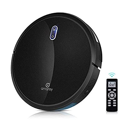 Amarey A800 Robot Vacuum - Super Suction Robotic Vacuum Cleaner, Long Lasting, Timer Function, Self-Charging, Multiple Cleaning Modes, Amarey Robot Vacuum Cleaner for Pet Hair, Hard Floor, Carpet