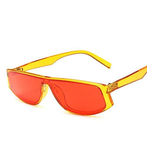 DLSM Candy Color Sonnenbrille Frauen Kunststoff Classic Brille Männer Vintage Street Beat Fahren UV400 Beach Sonnenbrille Fahren Brille-OrangerRed