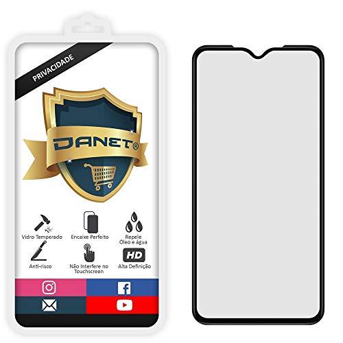 """Película De Privacidade Vidro Temperado Para Motorola Moto One Zoom Tela 6.4"""" Polegadas Proteção Anti Impacto E Curioso Top Spy Premium 3d - Danet"""