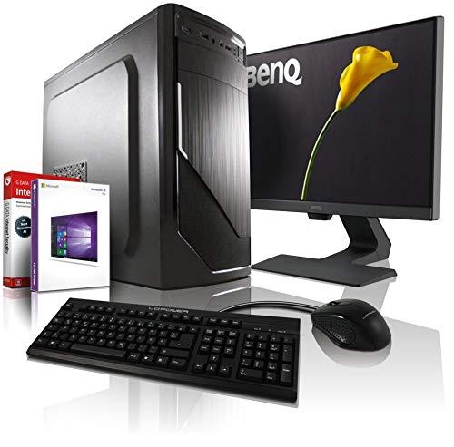 Komplett PC Allround/Multimedia Computer mit 3 Jahren Garantie! | AMD Ryzen3 1200 4x3.4 GHz | 8GB DDR4 | 256GB SSD | 500GB | USB3 | DVDRW | WLAN | Win10 Pro | 22