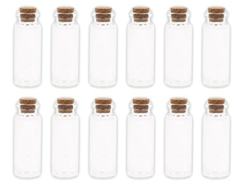 Alsino, GF-03, glazen flesjes met kurk, 100 stuks, lege miniglazen flesjes, bruiloft, jenevers, zandflesjes
