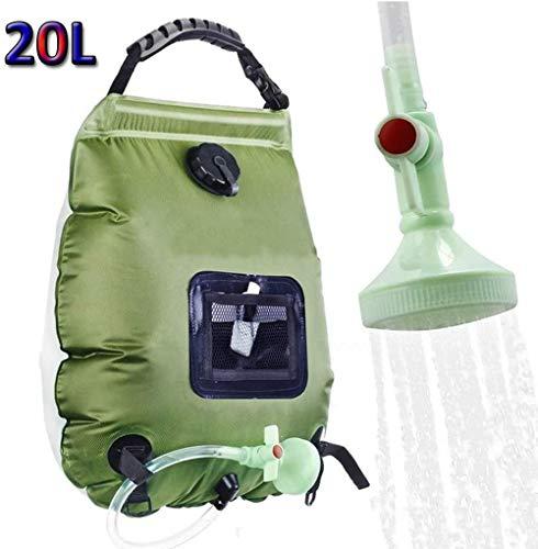 Camping Dusche 20 l Mobile Solarheizung mit abnehmbarem Schlauch und Handbrause austauschbar für Camping