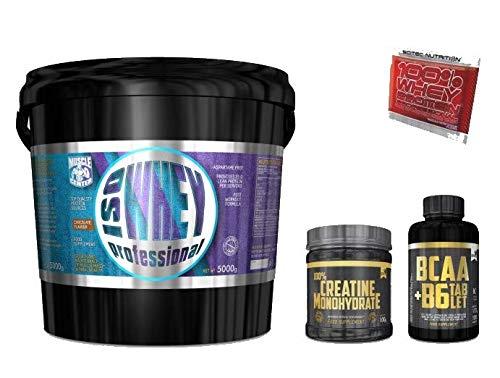 Multi Marca 100% ISO whey 5kg proteine Isolate Senza glutine + BCAA 100cpr e Creatina 100g Gold's Nutrition + Omaggio Scitec