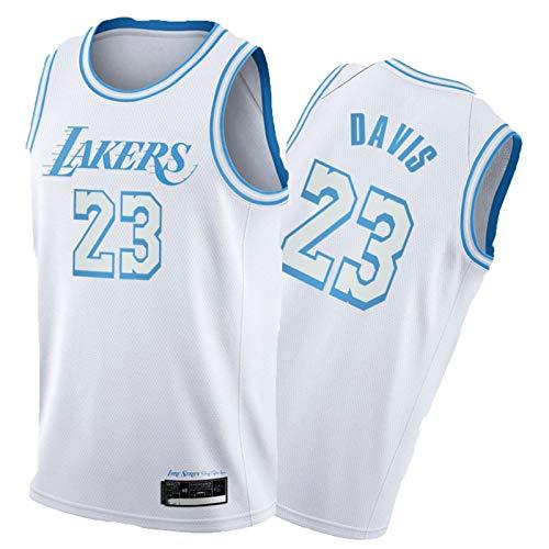 Camiseta de baloncesto de LěBrHn Jǎměs, camiseta de baloncesto para hombre, deportes juveniles y ocio de manga corta, chaleco de malla, camisa de secado rápido, color blanco, XXL