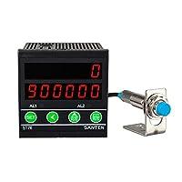 BAOSHISHAN 自動カウンター デジタルカウンター 知能カウンター 感知計数カウンター 電子カウンター 高精度センサー 電子メーター st76 AC110V 黒い (磁石センサー)