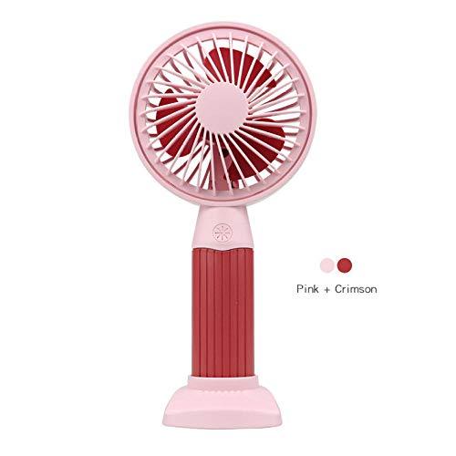 2 * Handheld USB oplaadbare mini-ventilator Mute high wind power oplaadbare mini kleine ventilator draagbare ventilator draagbaar