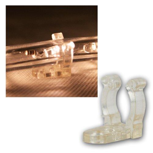 Rubberlight - Lichtschlauch Befestigungs-Clips - 25 Stück