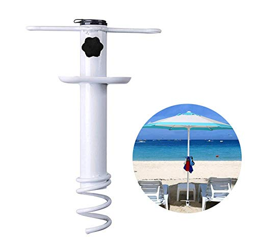 SEESEE.U Rotary Washing Line Ground Spike, Garden Parasol Base, Heavy Duty Ground Anchors for Rotary Dryers/Gazebos/Beach Patio Sun Umbrella, Suitable for Diameter from 22mm to 32mm