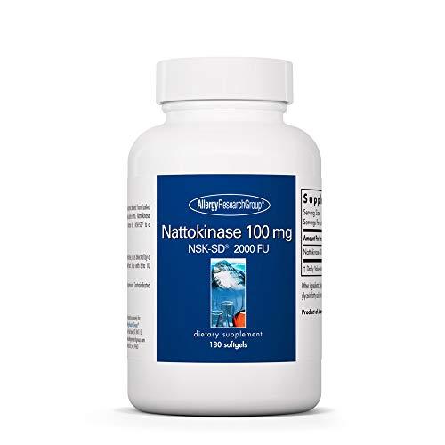 Allergy Research Group - Nattokinase NSK-SD 100mg - Cardiovascular/Circulatory Health - 180 Softgels