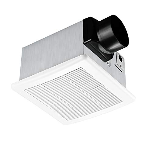 Tech Drive Bathroom Fan 90 CFM, 1.5 Sone Very Quiet Bath Ventilation and Exhaust Fan,Ceiling Mounted Fan,Easy to Install,White Plastic Grille