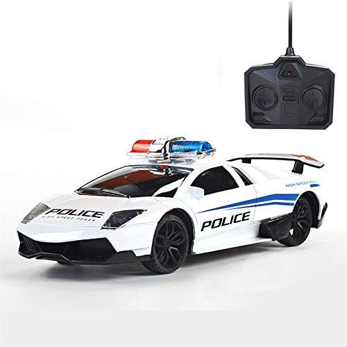 VIDOO Bjl Modelos 2101A 1/24 4Ch Simulador De Policía RC Coche W/Vehículos Recargables Ligeros Juguetes