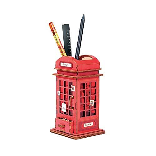Portalapices Organizador de Escritorio Titular de la pluma, nórdica moderna de madera creativa del sostenedor de la pluma de escritorio almacenaje de la pluma Material de Oficina Caja de almacenamient