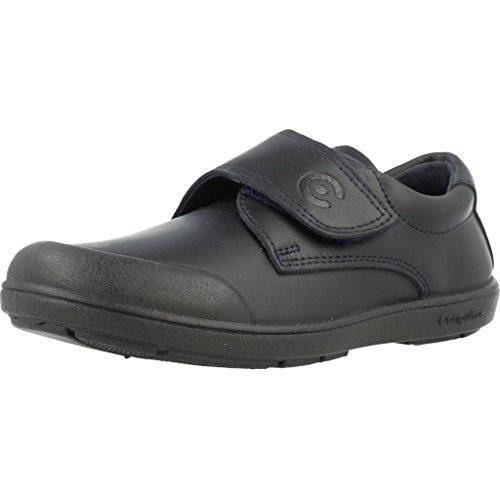 Conguitos Zapato Colegial Lavable Velcro, Cordones Derby Bebé, Azul Marino 2, 34 EU