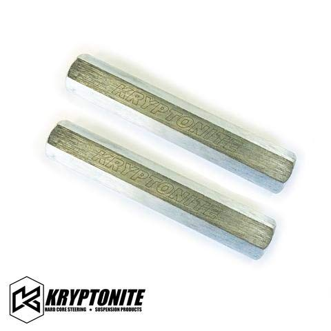 Kryptonite Solid Steel Zinc Plated Tie Rod Sleeves Compatible with 1999-2010 Chevy/GMC 1500HD/2500HD/3500 Hummer H2 Suburban Tahoe Escalade Yukon KRSLV10