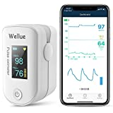 Wellue Pulse Oximeter Fingertip Blood Oxygen Saturation Monitor with Batteries & Lanyard for We…