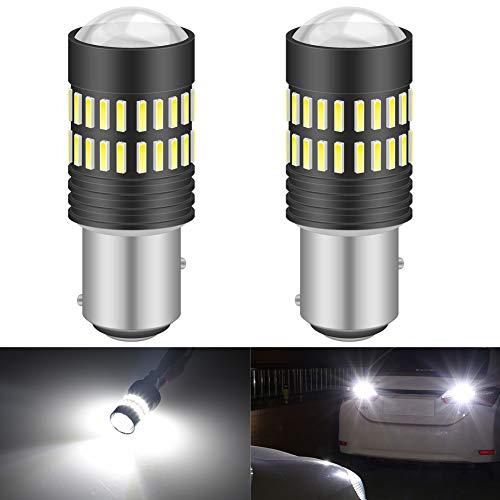 KATUR 2 X 1200 lúmenes Super Brillante 1157 BAY15D 7528 Bombillas LED con proyector para respaldar Luces de reversa Luces de señal de Giro DRL Luces de Freno de Cola, Xenón Blanco