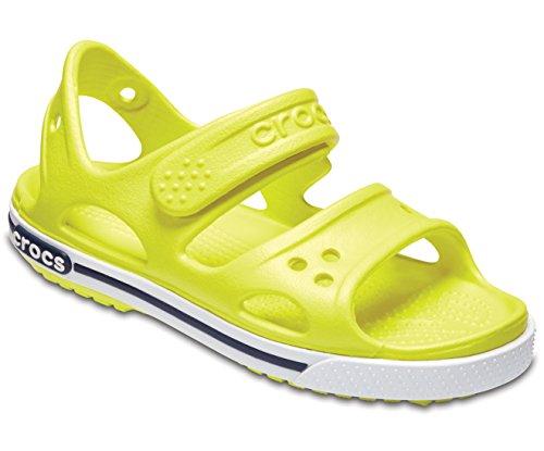 Crocs Crocband II, sandali unisex per bambini, Giallo (Tennis Ball Green/White), 16-17 M EU Ragazzino