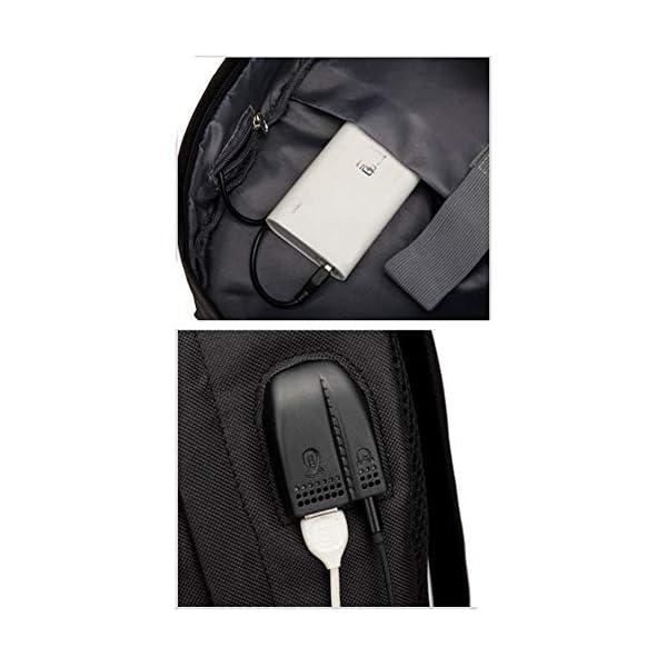 Billie Eilish Unisex Mochilas para Deportes y Aire Libre Luminosa Mochilas Tipo Casual Mochilas de Carga USB para Hombre Mujer