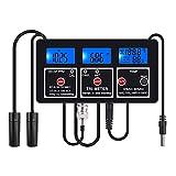 SETSCZY Monitor De Calidad del Agua 7 En 1, Medidor De Temperatura PH EC TDS, ORP CF, Multiparámetros, Acidómetro, para Acuario Y Piscina