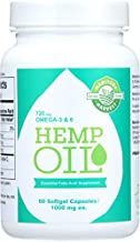Manitoba Harvest Hemp Seed Oil Capsules - 60 Capsules -pack of 1 1000mg ea.