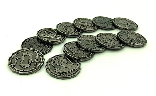 Character Coin Metal Tokens for RPG and Tabletop Games – Set of 12 Class Miniatures Perfect for Dungeons & Dragons and Pathfinder
