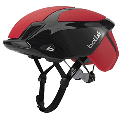 bollé Erwachsene The One Premium Cycling Helmets, Red Carbon, 58-62 cm