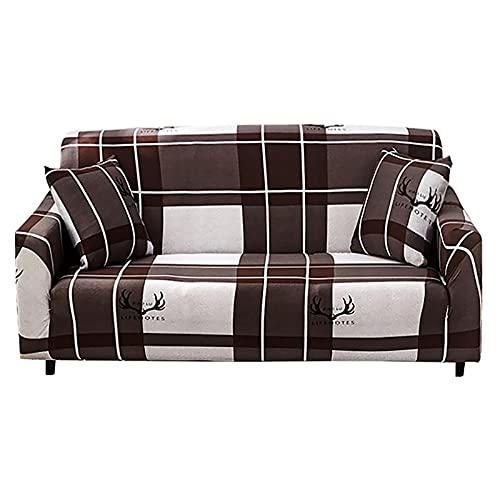 Funda de sofá elástica Asientos de Esquina elásticos Funda de sofá Funda Universal para Sala de Estar Funda de Licra en Forma de L Necesita Comprar 2 Piezas A19 2 plazas