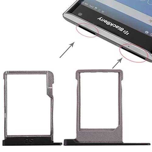 Ersatzteile SIM-Kartenfach + Micro SD-Kartenfach for BlackBerry Priv (Schwarz) Zubehör für Mobiltelefone (Farbe : Black)