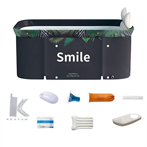 Poetryer - Bañera plegable para bañera de baño, fácil de instalar, 47,24 x 21,65 x 19,69 pulgadas, para adultos, sauna, vapor, spa