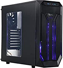 Rosewill ATX Mid Tower Gaming Computer Case with Side Window, Gaming Case with LED for Desktop/ PC including 3 x 120mm Fans for Outstanding Ventilation, 2 X USB 3.0 Ports (BRADLEY M)