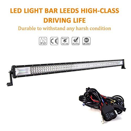 Willpower LED Arbeitsscheinwerfer Bar 52 Zoll 132cm 675W LED Scheinwerfer 12V 24V mit Kabelbaum Flutlicht Reflektor Combo Arbeitslicht Zusatzscheinwerfer für Auto Offroad Traktor SUV UTV ATV