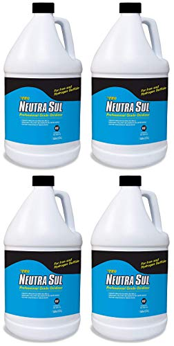 Neutra Sul HP41N Professional Grade Oxidizer, Neutralize Rotten Egg Smells and Pollutants, 1 Gallon (Fоur Расk)