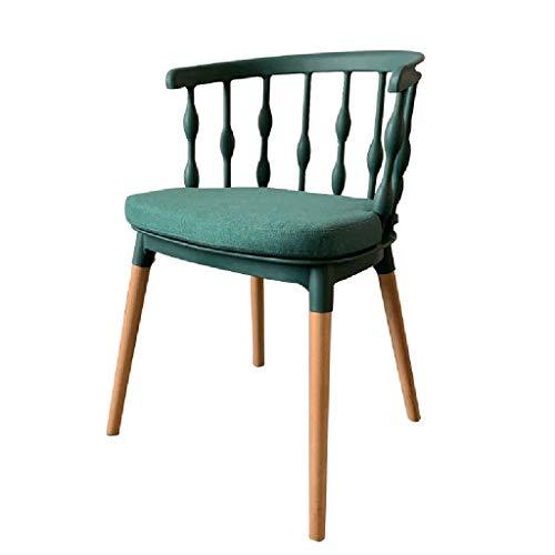 RONG HOME Balcon Chaises de Jardin Chaise à dîner PP Coussin de Dossier de siège Coton Chaises de Maquillage Non-Slip Restaurant/Club/Balcon/Tabouret de Bar/Salon,Vert