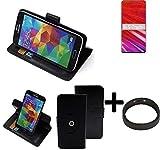 K-S-Trade® Case Schutz Hülle Für Lenovo Z5 Pro GT + Bumper Handyhülle Flipcase Smartphone Cover Handy Schutz Tasche Walletcase Schwarz (1x)
