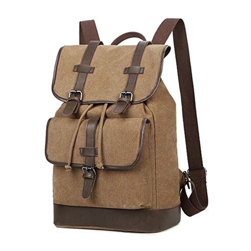 WYJBD Lightweight Large Capacity Casual Vintage Canvas Backpack, Unisex 15.6 Inch Laptop Backpack, Scratchproof Wear Resistant, For Camping Business Trip Mountaineering