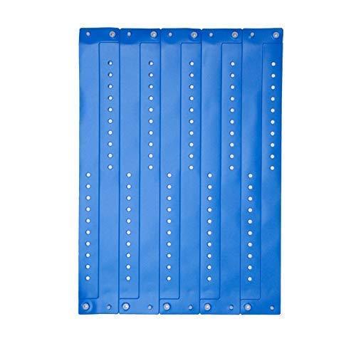 ClubKing - Pulsera de vinilo (50 unidades), color azul