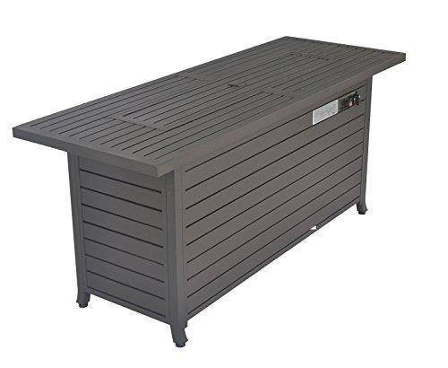 Legacy Heating CDFP-S-CB-M Aluminum fire Table, 56.7'X21.3'X24', MOCHA