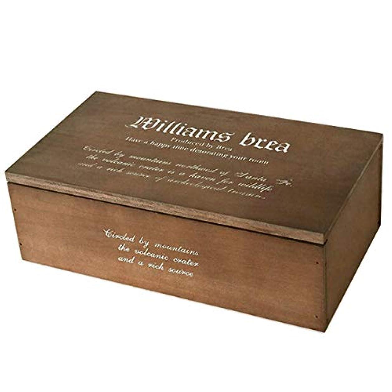 チャーミング一般表現BREA-1160DB 日本製 木製ティッシュケース フタ付き 新型(ダークブラウン)